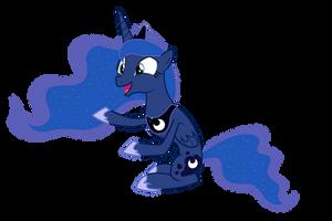 Happy Luna is Happy by popmannn