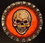 Halloween Skull Bottle Cap Monster