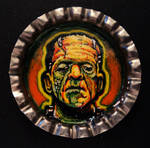 Frankenstein 3 Bottle Cap Monster