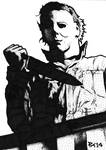 Michael Myers Sketch Card