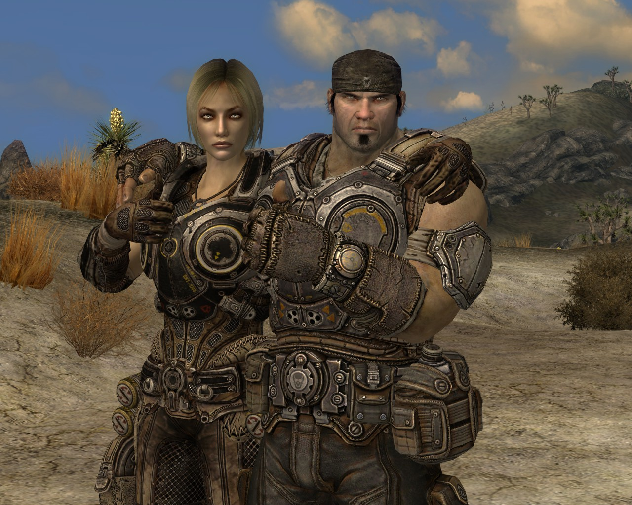 mARCUS FENIX AND ANYA STROUD