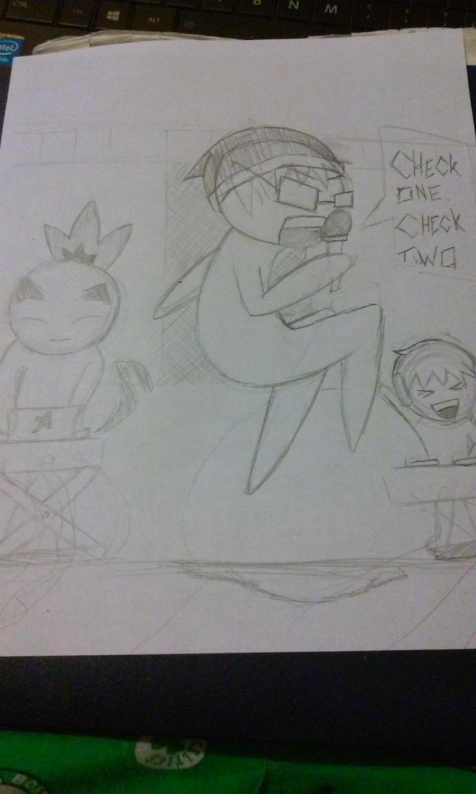 [Quick Sketch] Mic Check with me! by SirShizuka1016