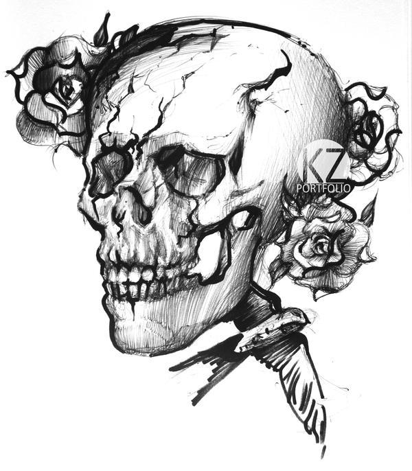 Skull by vBlackDevilv