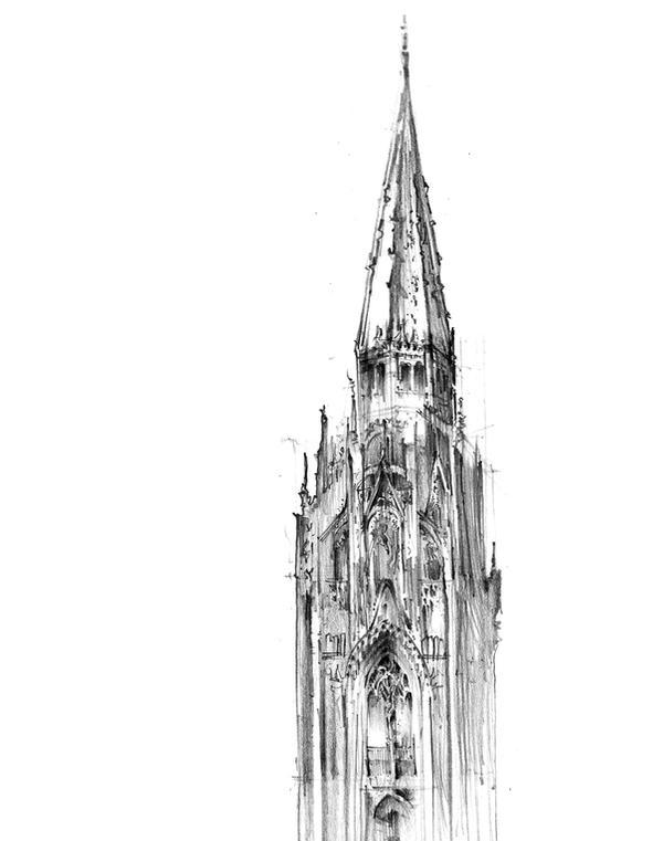 Gothic tower by vBlackDevilv