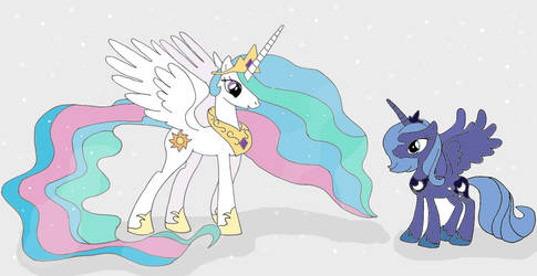 Celestia and Luna by HairyGirl