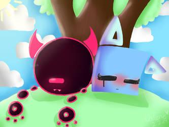 Sleeping under a tree [JSaB] by CatGirl22111