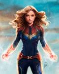 Captain Marvel by ivantalavera