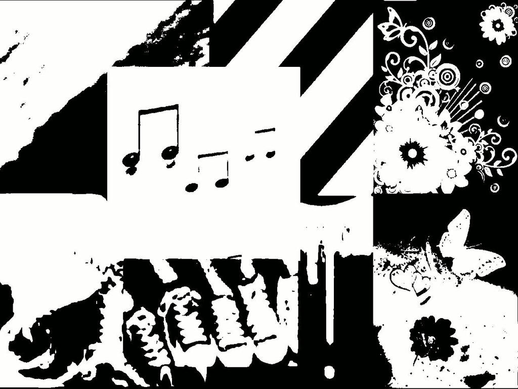 Black And White Abstract Music Paintings images