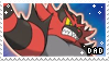 Incineroar Dad | Stamp by PuniPlush
