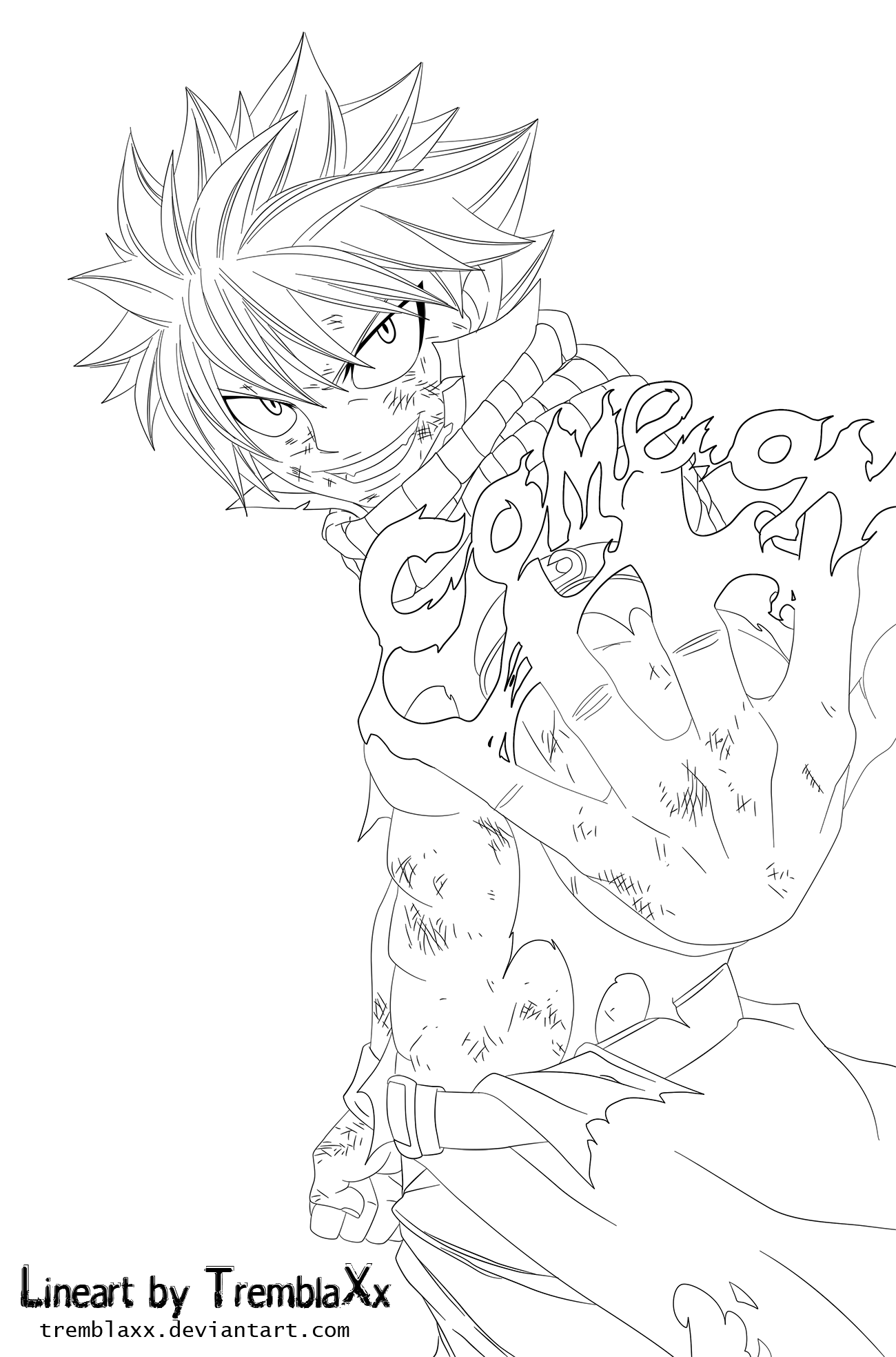 Natsu Lineart : Natsu come on lineart by ramzykamen deviantart