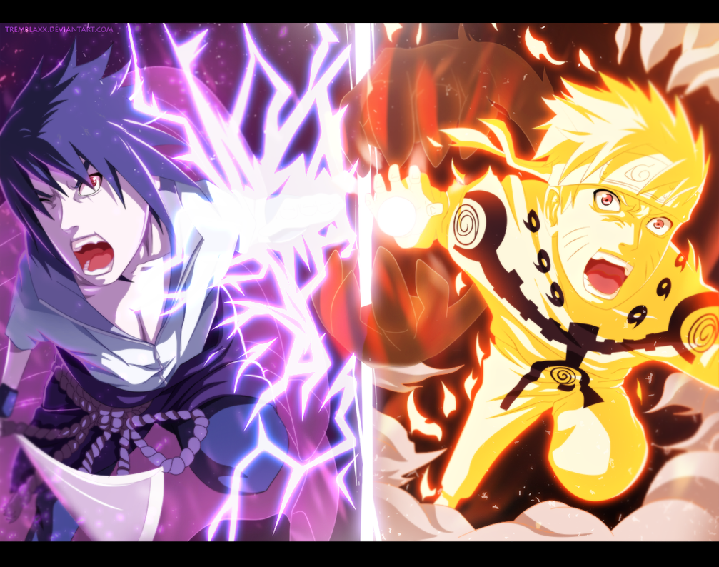 Naruto / Sasuke Final Battle by Tremblax