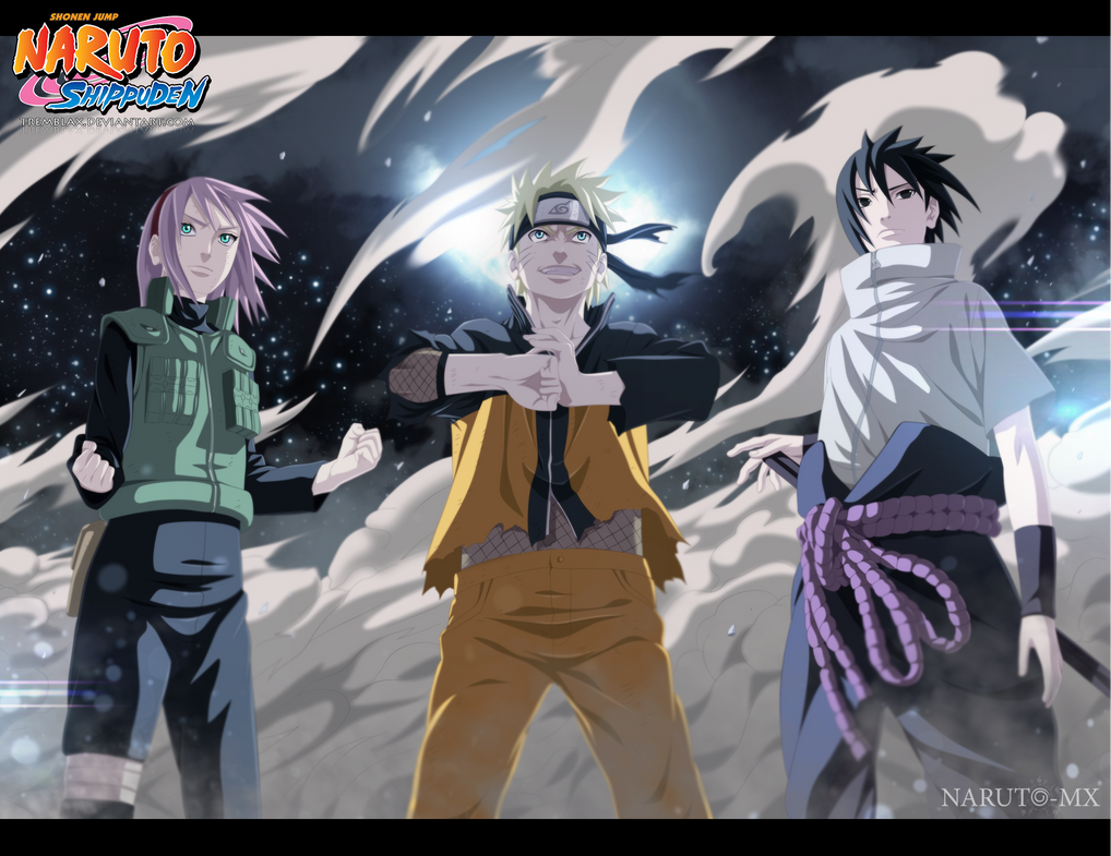 Naruto 632 - Team 7   by TremblaxNaruto Shippuden Team 7 Assemble