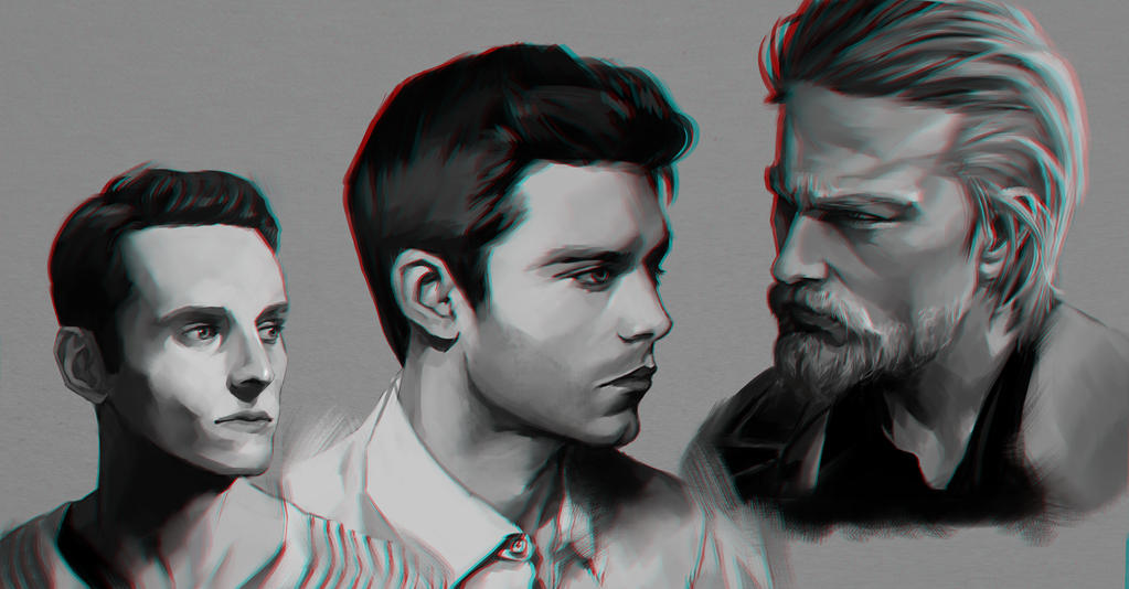 Dudes face angle study 1 by RamzyKamen