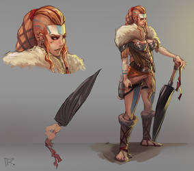 Concept character - RPG - Female viking