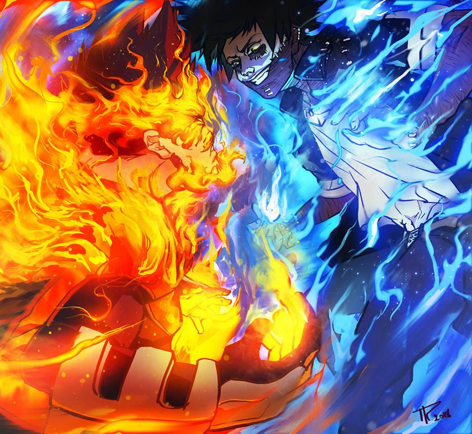 Endeavor vs Dabi - Boku no hero academia Fan-art by RamzyKamen on DeviantArt