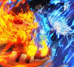 Endeavor vs Dabi - Boku no hero academia Fan-art