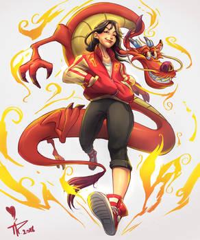 Time flies - Mulan fanart