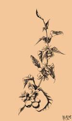 Coffee branch tattoo