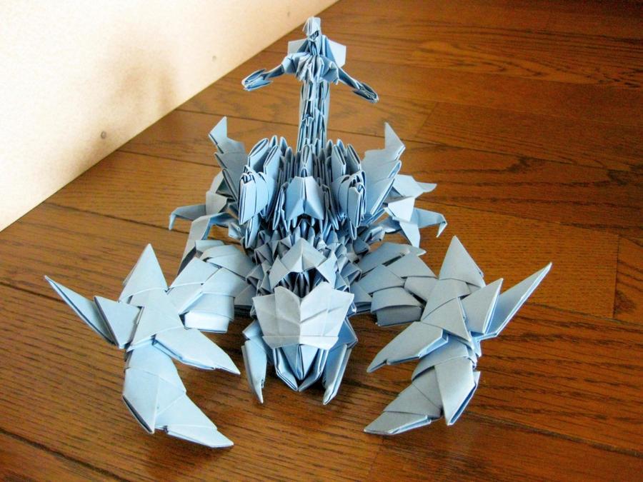 3d origami sea scorpion by kumazaza on deviantart. Black Bedroom Furniture Sets. Home Design Ideas