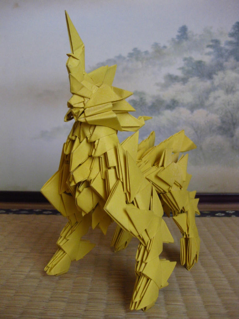 3d origami Kirin by kumazaza