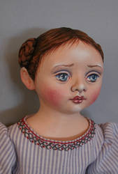 Cloth Girl Doll closeup