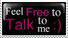 Feel Free stamp by rawr-xx-chan