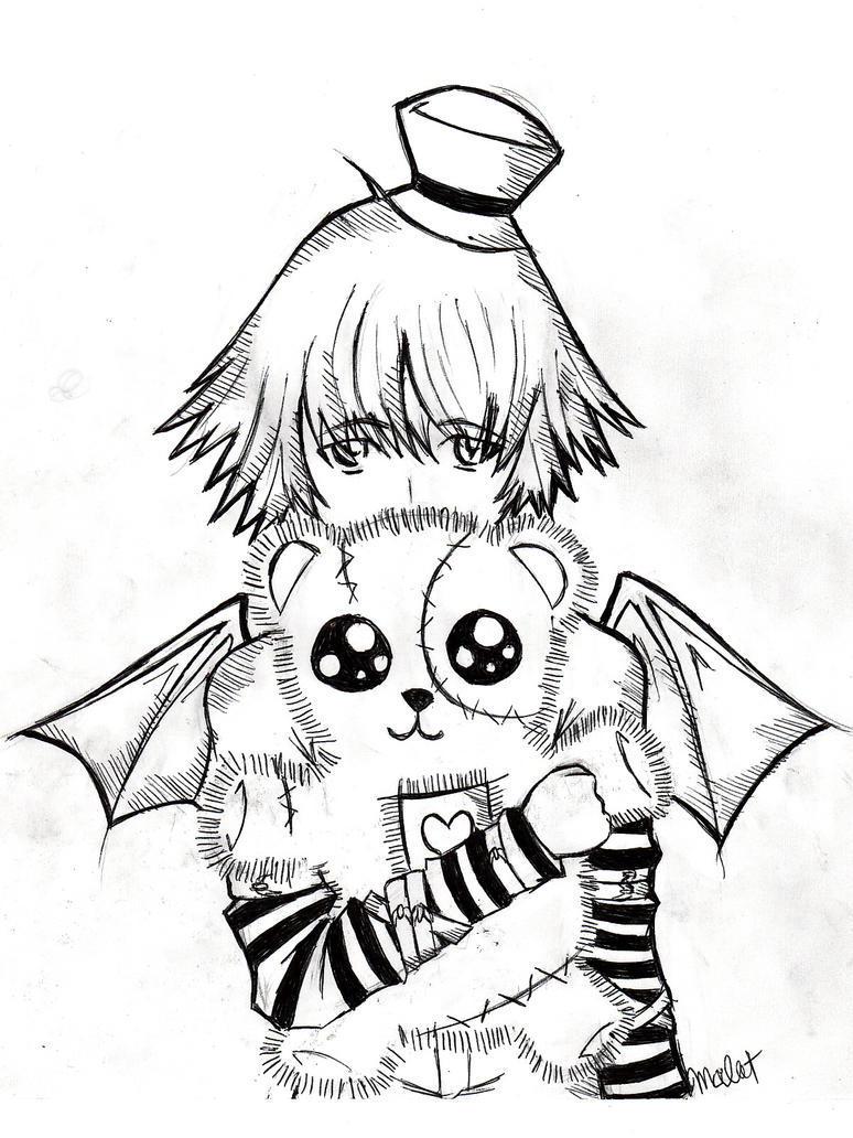 Emo Drawing Coloring Pages