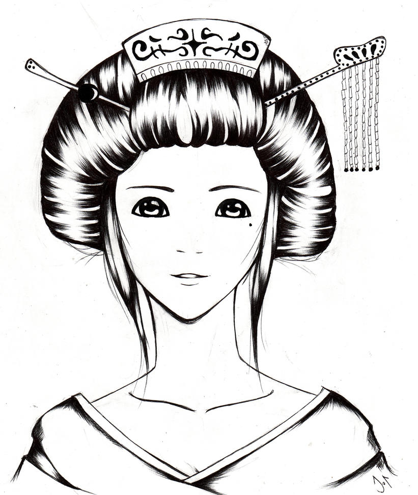 Uncategorized Geisha Girl Drawing geisha girl sketch by twilightwatanabe on deviantart twilightwatanabe