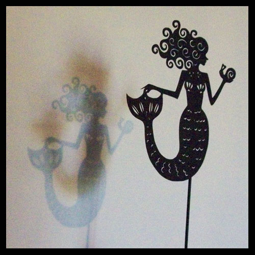 The Mermaid - Shadow Puppet by PaperTales
