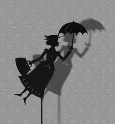 Mary Poppins - Shadow Puppet by PaperTales