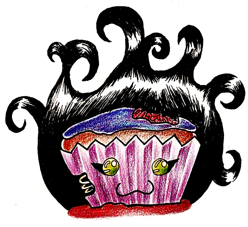 Zombie Cupcake by Snevitts