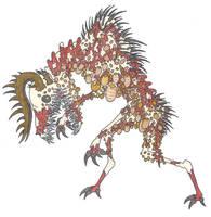 Pseudo Wendigo by EvolutionsVoid