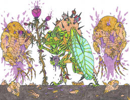 Cicada Necromancer by EvolutionsVoid