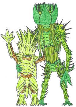 Aloe Dryad and Nettle Dryad