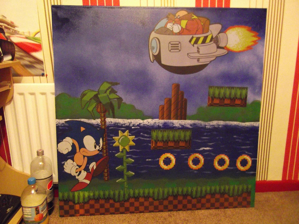 Nice Custom Made Sonic The Hedgehog Canvas By RetroDanno ...
