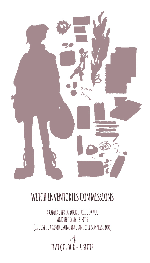 Witch Inventory COMMISSIONS by auryn