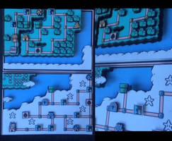 Super Mario Bros 3 World Map Diorama by Nikkecharmknutte