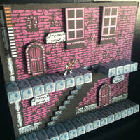 Castlevania Simon's Quest Diorama by Nikkecharmknutte