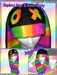 Rainbow Bunny Hats