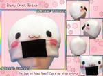 Blushy Onigiri Fleece Beanie Hat