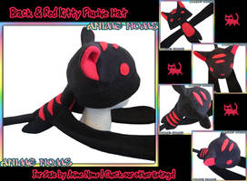 Striped Kitty Plushie Noms Hat by AnimeNomNoms