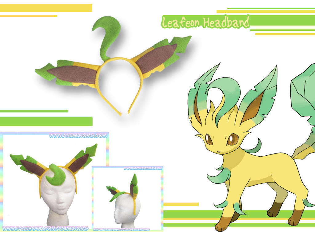 Leafeon Headband by AnimeNomNoms