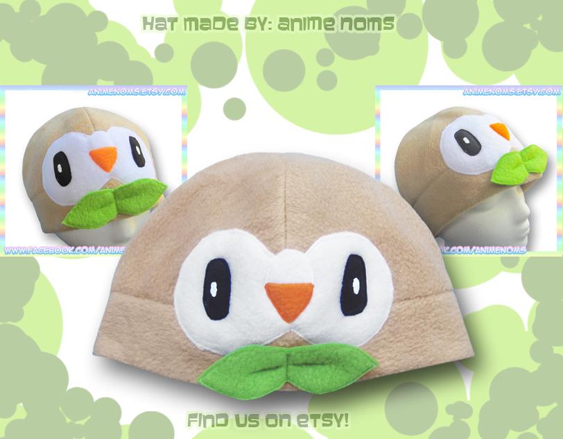 Rowlet Hat by AnimeNomNoms