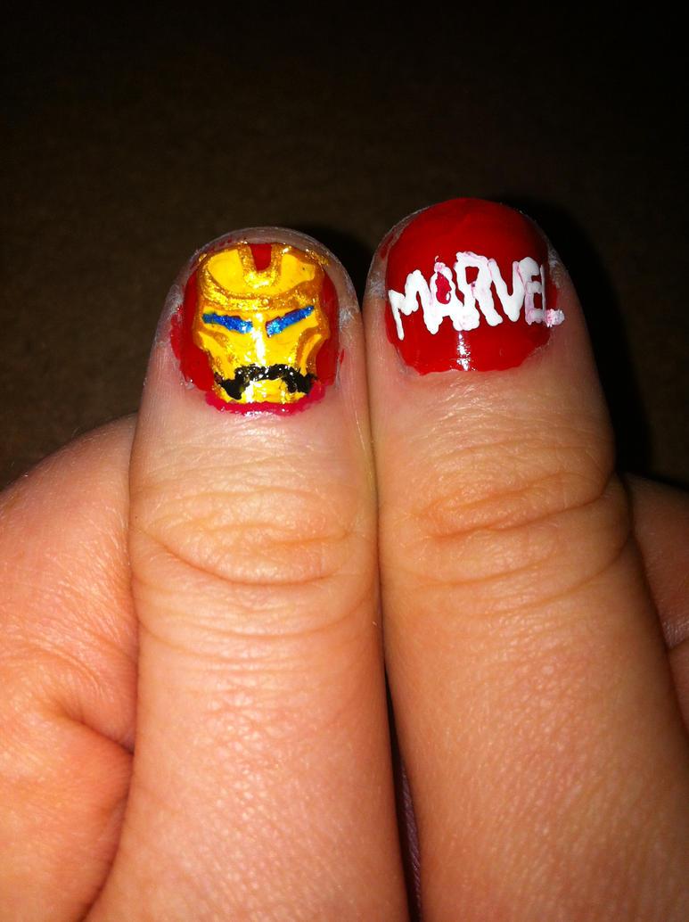 IronMan - Marvel Nails by katiegled on DeviantArt