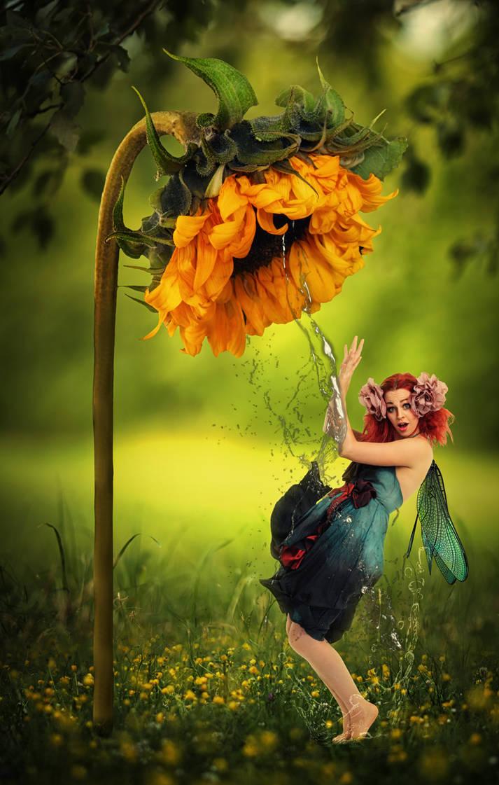 Sunflower Fairy by morosity