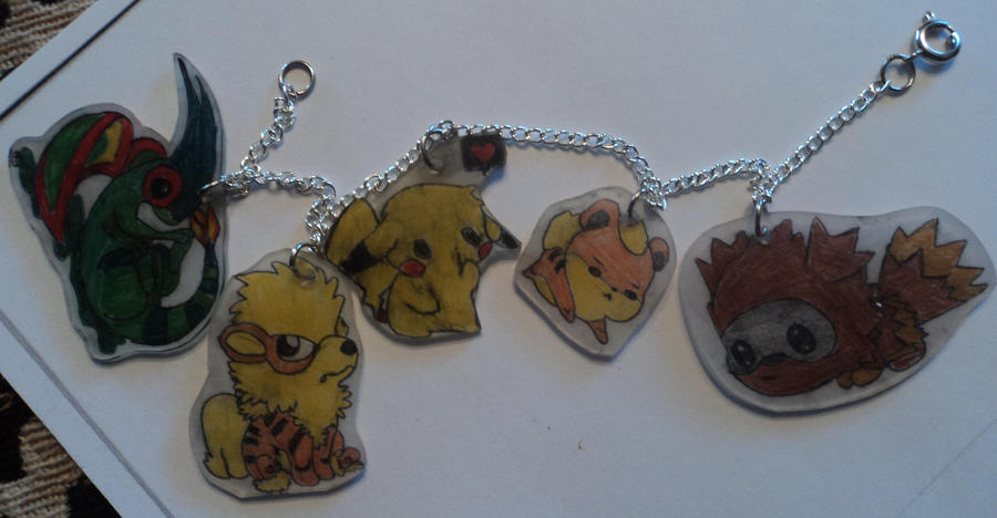 Pokemon Charm Braclet by Samaxas