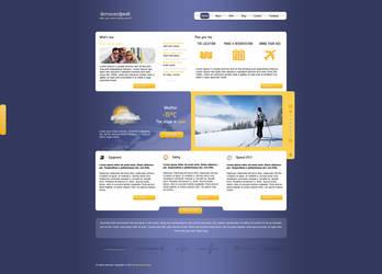 Skiing resort landing page by nieswiety1337