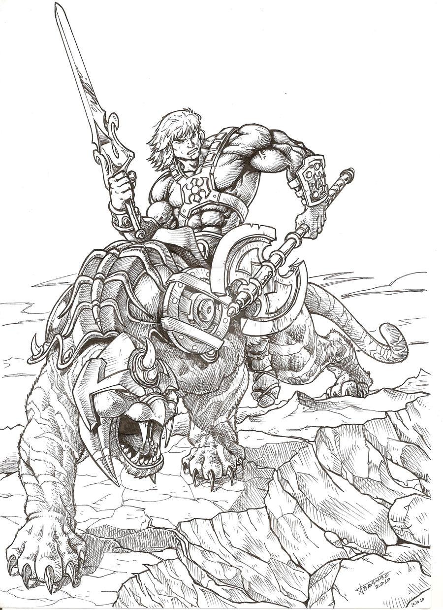 He-Man e Gato Guerreiro by LucianoAbras