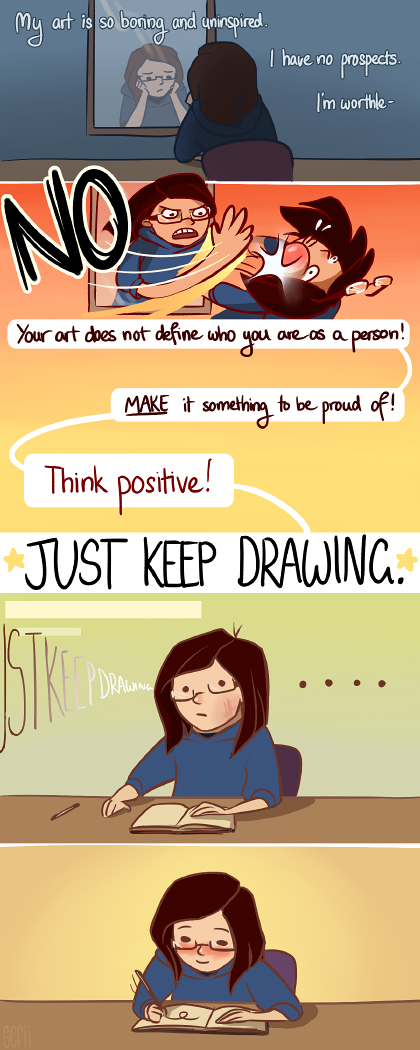 just keep drawing by scrii