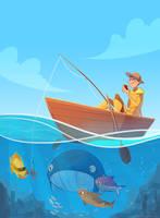 gone fishing by scrii